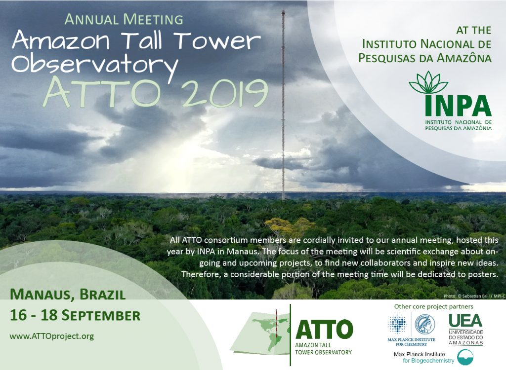 ATTO Meeting 2019 in Manaus on September 16 - 18