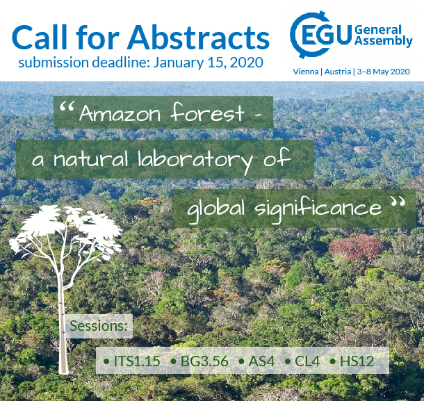 Call for Abstracts for EGU 2020 Session on the Amazon forest