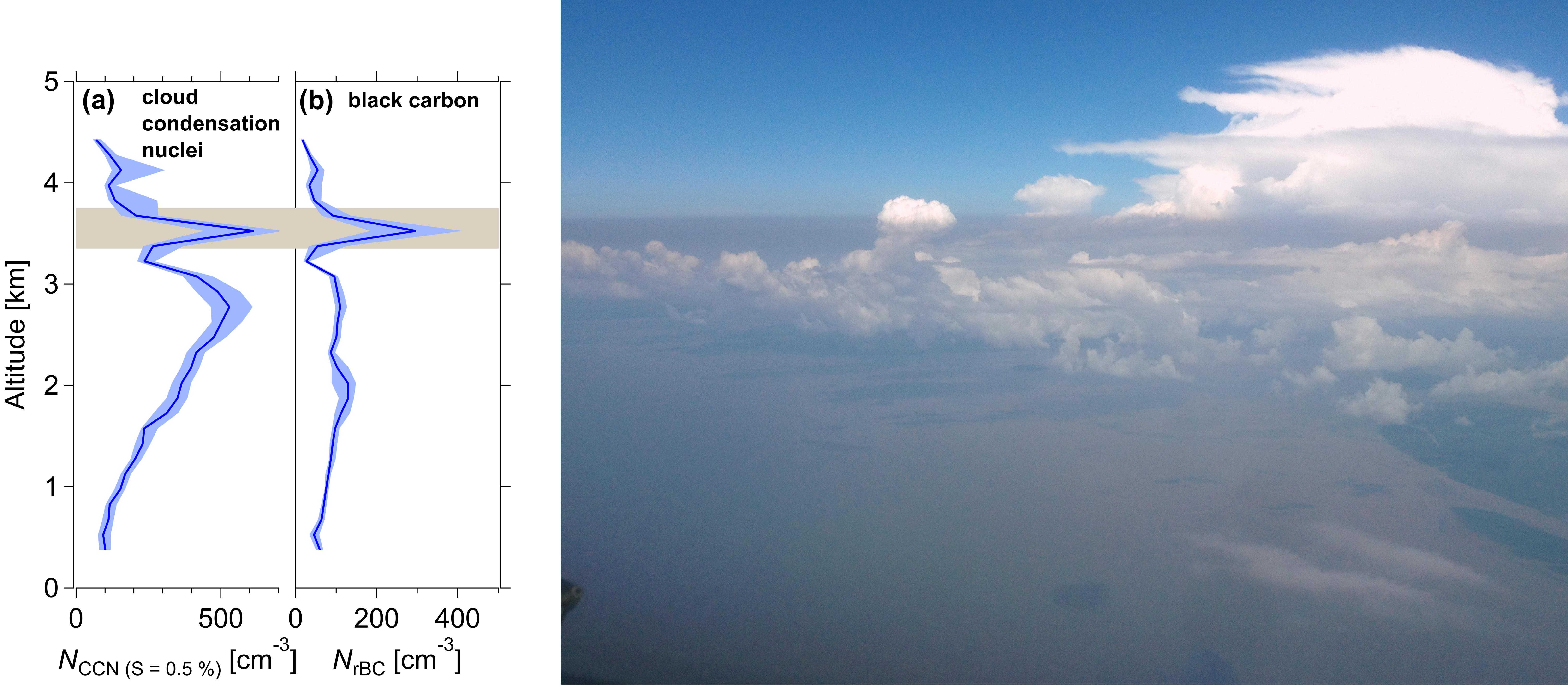 Rauchschicht mit hoher Rußkonzentration erreicht die Küste Brasiliens.