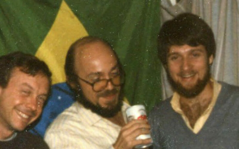 Me with Leonardo Sá some time in the 80s.